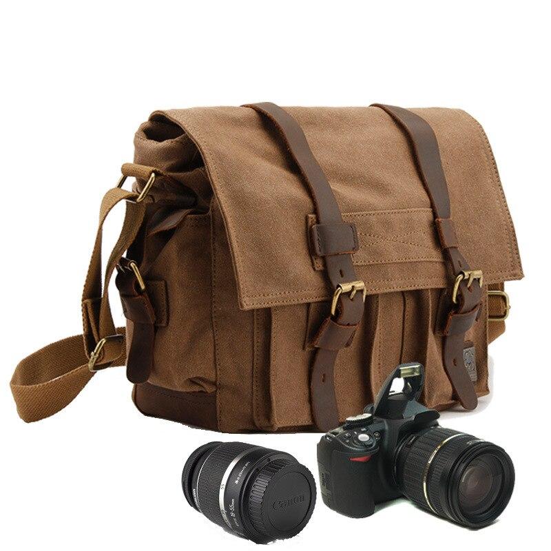 Mode unisexe Messenger sacs unique caméra toile sac à bandoulière hommes femmes toile mode chaîne décontracté voyage Messenger sac