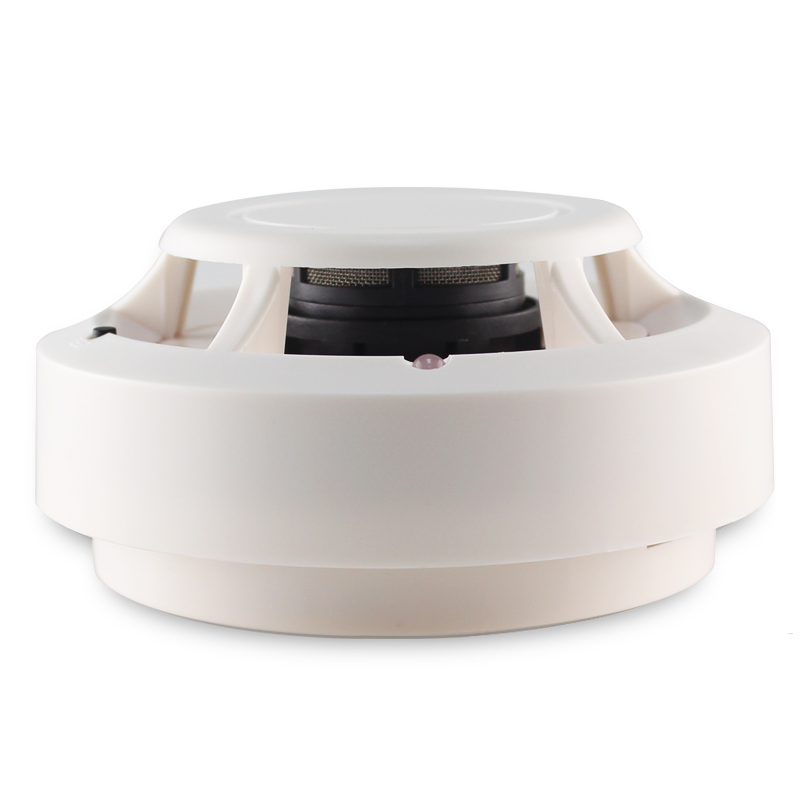 433mhz wireless smoke detector 80db fire alarm linked with alarm system home. Black Bedroom Furniture Sets. Home Design Ideas