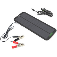 12V Solar Charger Solar Battery Charger Trickle Powering Solar Panel charger Maintainer for Vehicle Motorcycle Satellite Phone