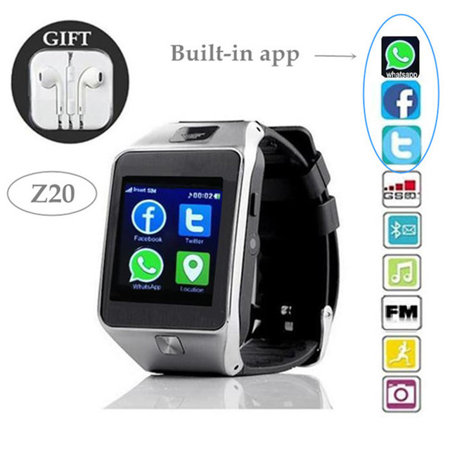 1e0cd7366dcb7 Z20 reloj inteligente tarjeta SIM   cámara   Built in Whatsapp Facebook  Twitter para Apple iphone