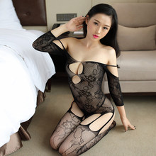 Sexy Mesh Novelty & Special Use Sexy Clothing Sexy Underwear Exotic Apparel Jumpsuit Full Body Stockings Teddies & Bodysuits(China)