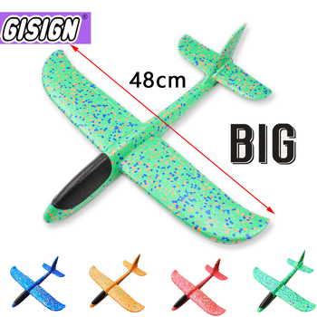 48CM Aircraft Plane Foam Glider Hand Throw Airplane Glider Toy Planes EPP Outdoor Kids Toys for Children Boys Gift kf606 2 4ghz rc airplane flying aircraft epp foam glider toy airplane 15 minutes flight time rtf foam plane toys kids gifts
