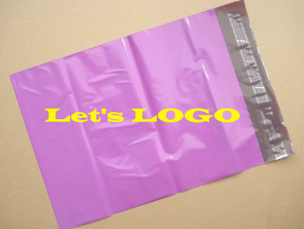 28 42cm Purple Custom Mailing Bags With Logo Express Courier