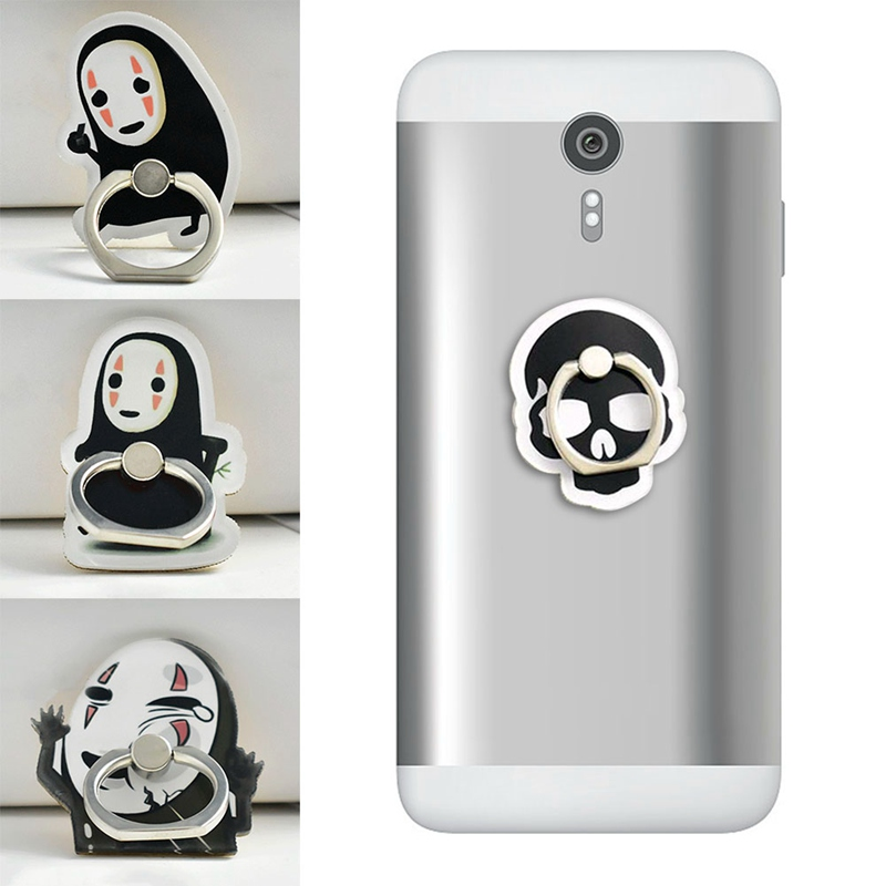 2019 New Acrylic Cartoon Stay Cute Anime Faceless Man Funny Expression Mobile Phone Ring Bracket For IPhone6S 7 8P Xs Max Xr