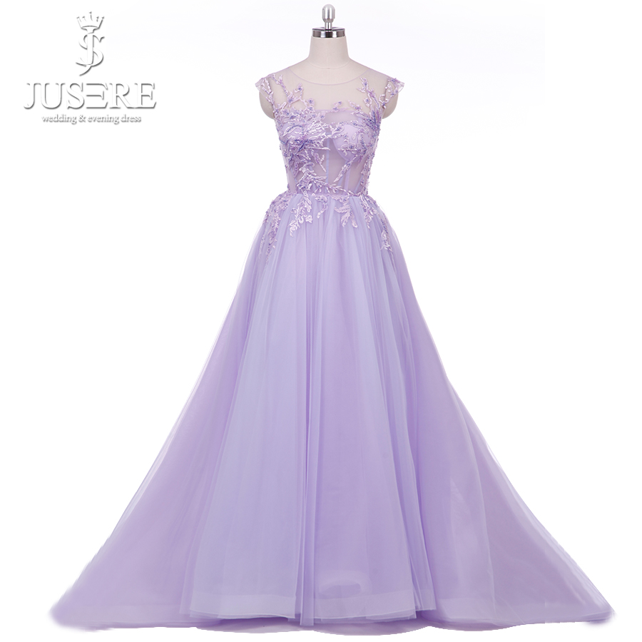 Real Photos Lavender See Through Bodice Beaded Lace Party Dresses Special Occasion A Line Prom Dress 2019