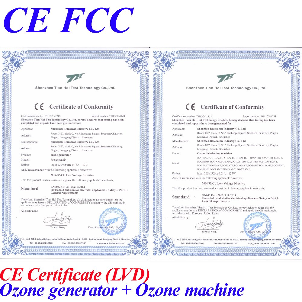Ce Emc Lvd Fcc Stable Generator Ozone With Tubes 10gh In Air