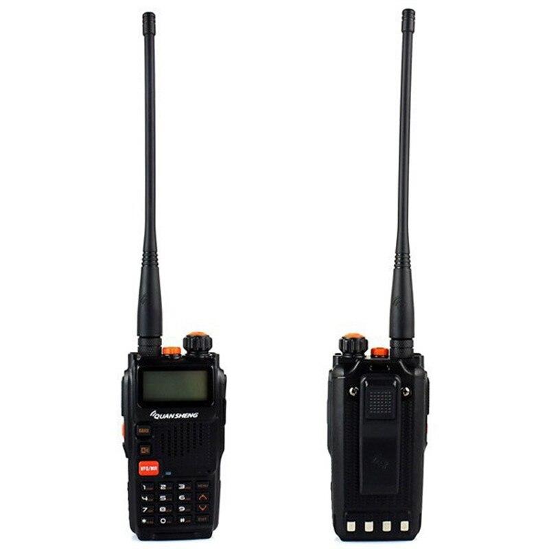 New Black Portable Radio Walkie Talkie QUANSHENG TG-K4AT(UV) Dual Band VHF UHF 128CH DTMF VOX Two Way Radio Transceiver