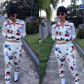 Special design 2016 popular full sleeve print rompers 2 piece elegant suit women sweat suit