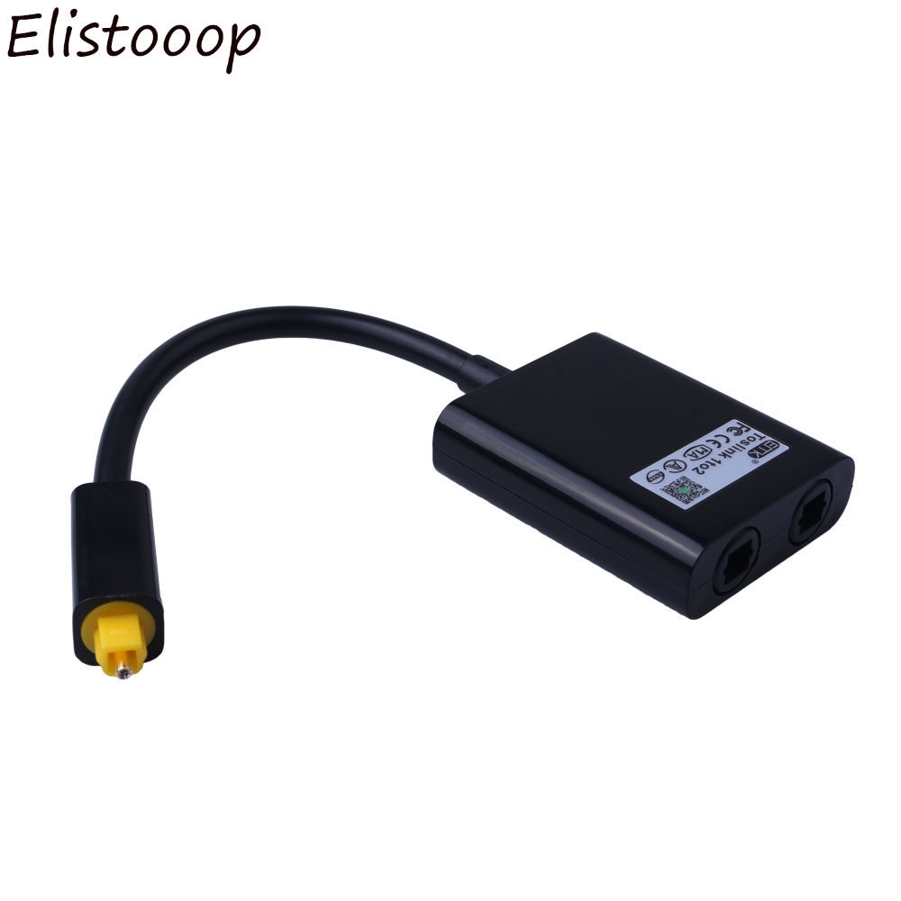 Online Shop Emk Digital Optik Kabel Audio Output Input Spdif Toslink Optic Panjang 1m Elistooop Optical Splitter 2 Way Adapter 1