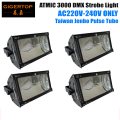 Hi-Quality 4pcs/lot Martin Atomic 3000 DMX 3000W Long-life Xenon Strobe 220V EU Version Jenbo Pulse Tube Strobe Light Controller