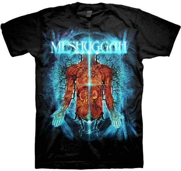 Gildan MESHUGGAH Ramas De La Anatomía de la Camisa camiseta de los ...