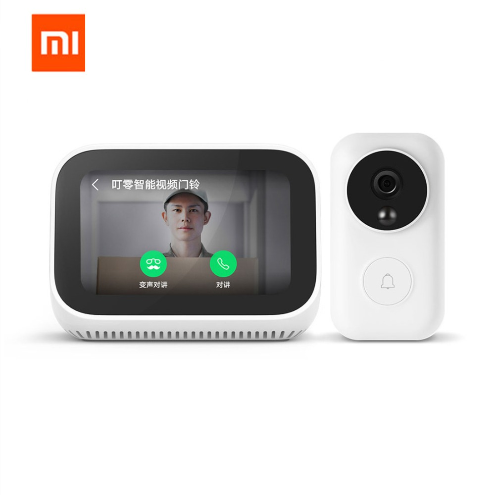 Original Xiaomi AI Gesicht Touch Screen Bluetooth 5,0 Lautsprecher Digital Display Wecker WiFi Smart Verbindung Mit Vedio Türklingel