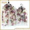 2016 flor shivering bufanda de marca para las mujeres de la familia del niño de moda a juego largo invierno mantón de las bufandas de pashmina de madre e hija