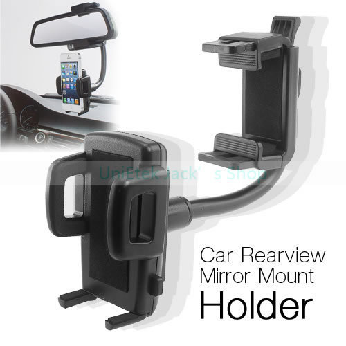 New Arrival Cellphone Universal (4.3-9cm Width) Rearview Mirror Car Mount Holder for iPhone 5S 6s for Samsung s7 for mate 8