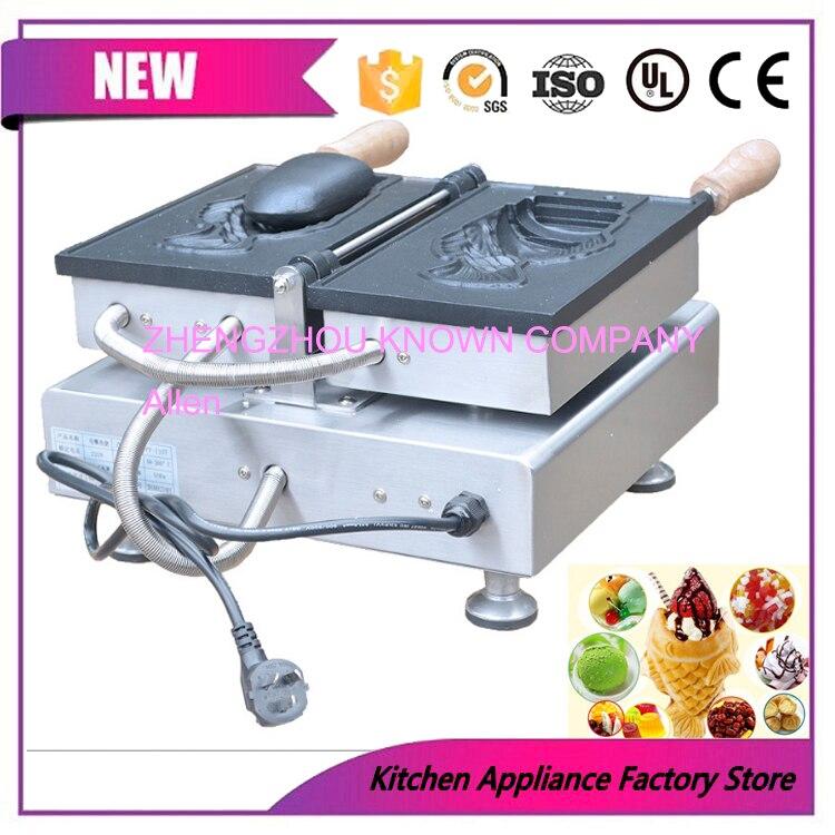 Commercial antiadhésif 110 v 220 v électrique 1 unique crème glacée poisson gaufre Taiyaki Machine boulanger fabricant fer Grill ensemble