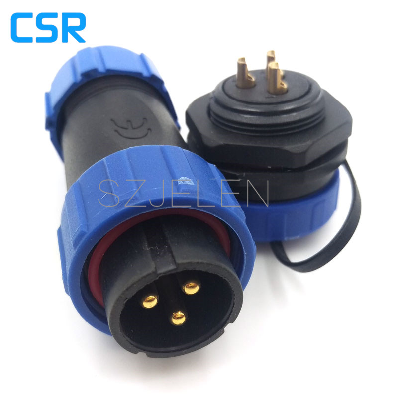 SP2110, 3-pin car on the plug connector, male and female waterproof connectors, LED waterproof plug and socket high current,IP68 цена