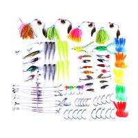 102pcsfishing tackle fishing set lure kit fishing lures set kits soft metal hard lure spinner bait saltwater trout fishing hooks
