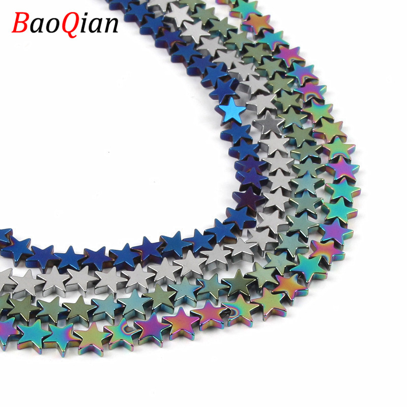 Natural Five-pointed Star Hematite Beads DIY Multi-color Creative Modeling Beads Making Necklace Bracelet Jewelry Accessories(China)
