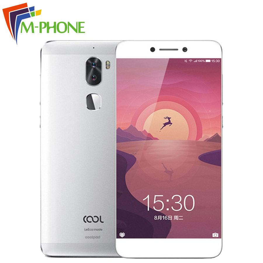 "Original Letv Leeco Cool 1 Dual Coolpad Cool1 Snapdragon 652 Mobile Phone 3GB RAM 32GB 5.5"" FHD 13MP Dual Cameras Fingerprint ID"
