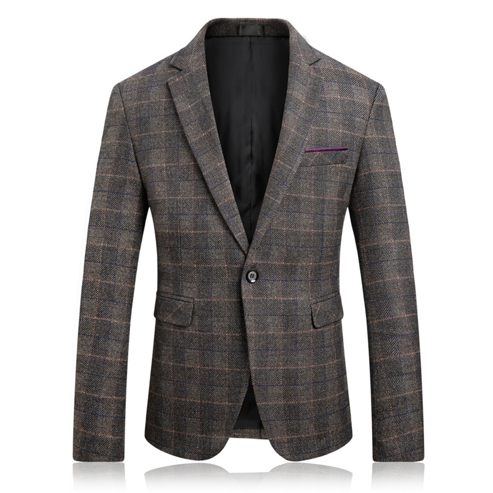 2018 New Spring And Autumn Style Men Boutique Blazers High Quality Business Casual Slim Plaid Male Suit Jacket Large Size M-5XL