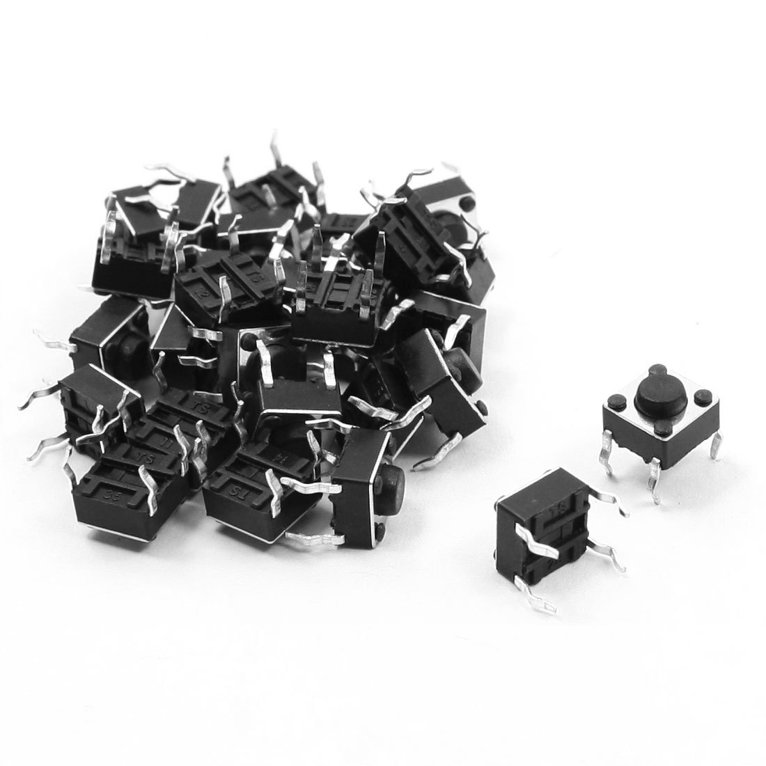 THGS 25pcs Round Pushbutton 4 Pins SMD SMT Momentary Tactile Switch