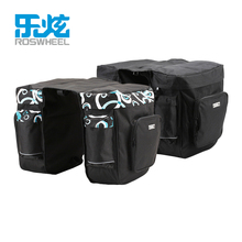 цены ROSWHEEL 30L Rear Rack Trunk Bike Luggage Back Seat Pannier Two Double Bags Bicycle Carrier Bag Outdoor Cycling Saddle Storage