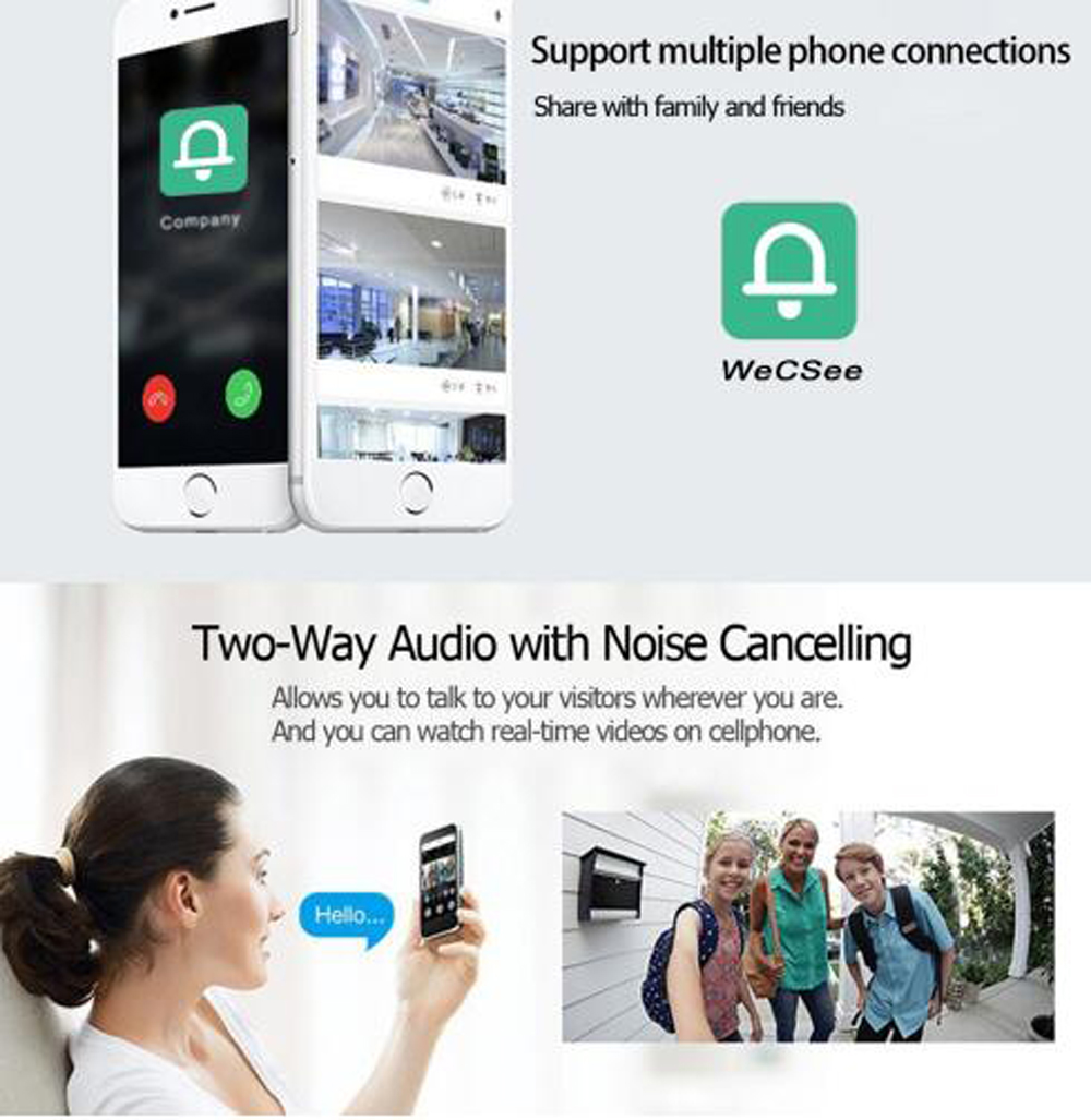 Door bell Peephole Camera Wifi Smart 4 3 quot Monitor Wireless Call APP Control IOS Andriod Alarm Monitor Delection Door Video Eyes in Doorbell from Security amp Protection