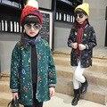 Детские осенние пальто детей длинный зимнее пальто куртки Корейский новый ребенок девушки всплеск молнии одежда 4-6-9-10 лет дети топ