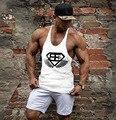 Roupas de marca Top Homens Tanque Ouros Musculação Fitness Desgaste Gorila Colete Stringer Undershirt sportswear