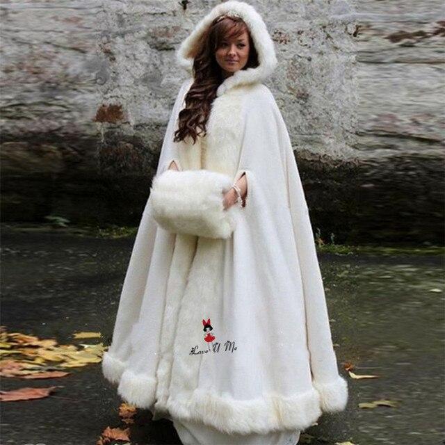 Weihnachten Hochzeit Benutzerdefinierte Mantel Winter Hochzeit Cape