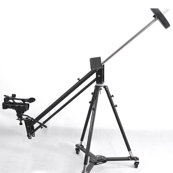Twzz professionnel en alliage d'aluminium grue potence de caméra vidéo Portable Pro DSLR caméra vidéo grue bras Version Standard + sac