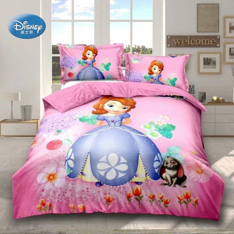 Disney Pink Sophia 100% Polyester Comforter Cover Set Duvet Cover Pillowcases For Teen Girls 1m Or 1.2m Bed