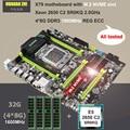 Acquista scheda madre di marca HUANAN ZHI ATX scheda madre con slot per M.2 X79 CPU Intel Xeon E5 2650 C2 2.0GHz RAM 32G (4*8G) 1600 REG ecc