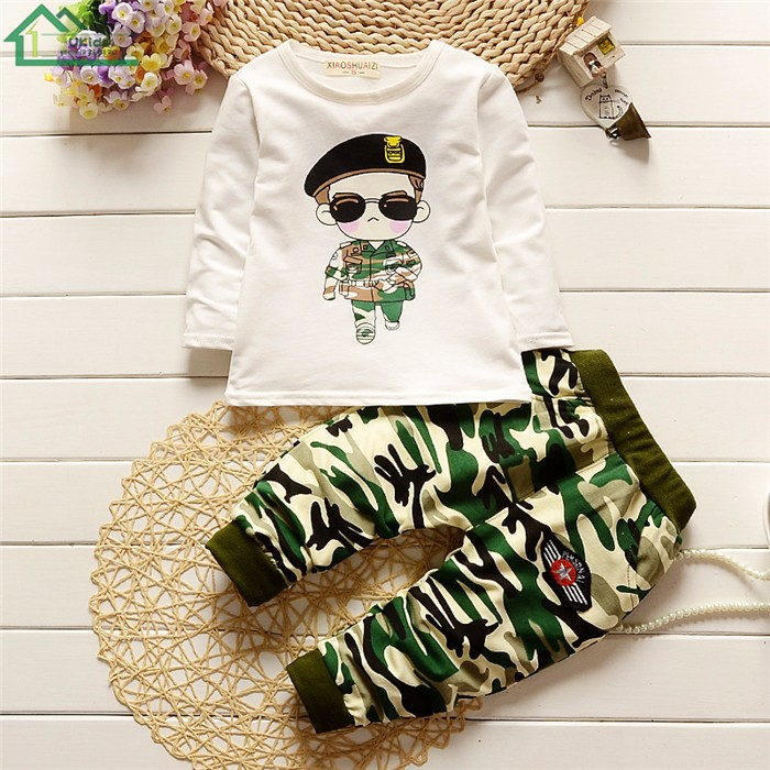 long sleeve camouflage kids clothes set14
