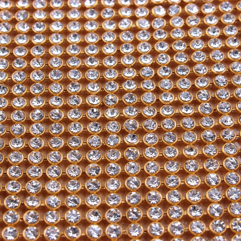 ZOTOONE SS8 24X45CM Cut Root Hot Fix Rhinestone Crystal Cup Chain Resin Applicator Gliter Apparel Accessory Wedding Dress Tape in Rhinestones from Home Garden