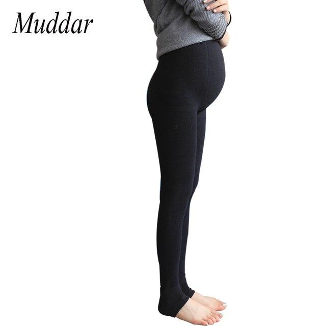 a982609b1 Invierno de Maternidad Polainas de Despacho de Alta Pantalones de Cintura  Para Las Mujeres Embarazadas Embarazo