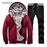 New Arrival Mens Tracksuit Sets Hoodies Full Sleeve Fur Sweat Men Sport Suit Sudaderas Hombre 2015