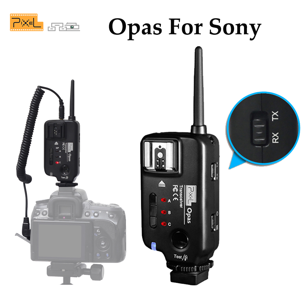 PIXEL Opas Wireless Flash Trigger Transmitter Transceiver For Sony Camera A900 A850 A750 A700 A550 A500 A380 A350 A330 A300 sepai b702 protective nylon camera one shoulder handheld bag for sony a350 a380 dslr black