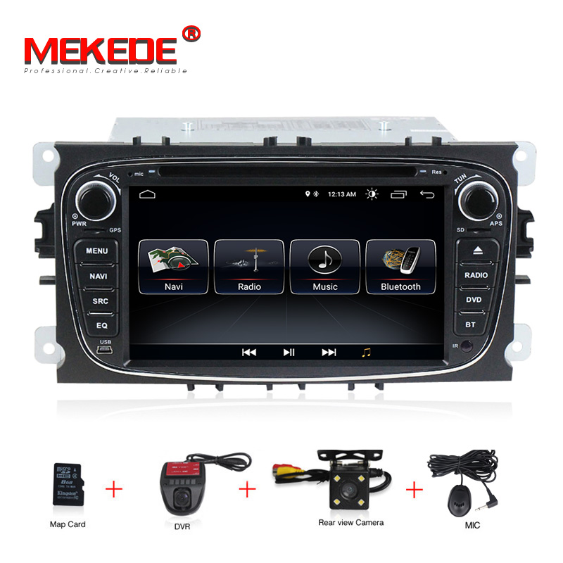 1024x600 Android 8.0 Car Multimedia Player GPS 2 Din car dvd player for FORD/Focus/S-MAX/Mondeo/C-MAX/Galaxy wifi car radio android 8 4 32gb car gps navigation dvd player radio isp screen for ford focus 2004 2011 ford mondeo focus s max kuga galax mk3