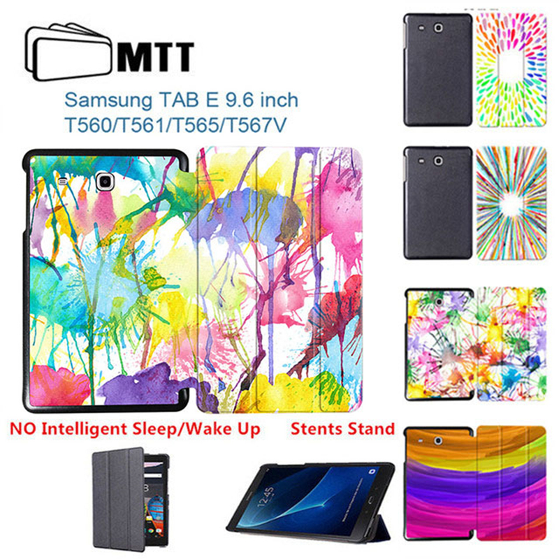 MTT Aquarelle PU Leather case for Samsung Galaxy Tab E 9.6 T560 T561 Business Tablet Flip Smart Cover for Galaxy Tab E 9.6 T560 все цены