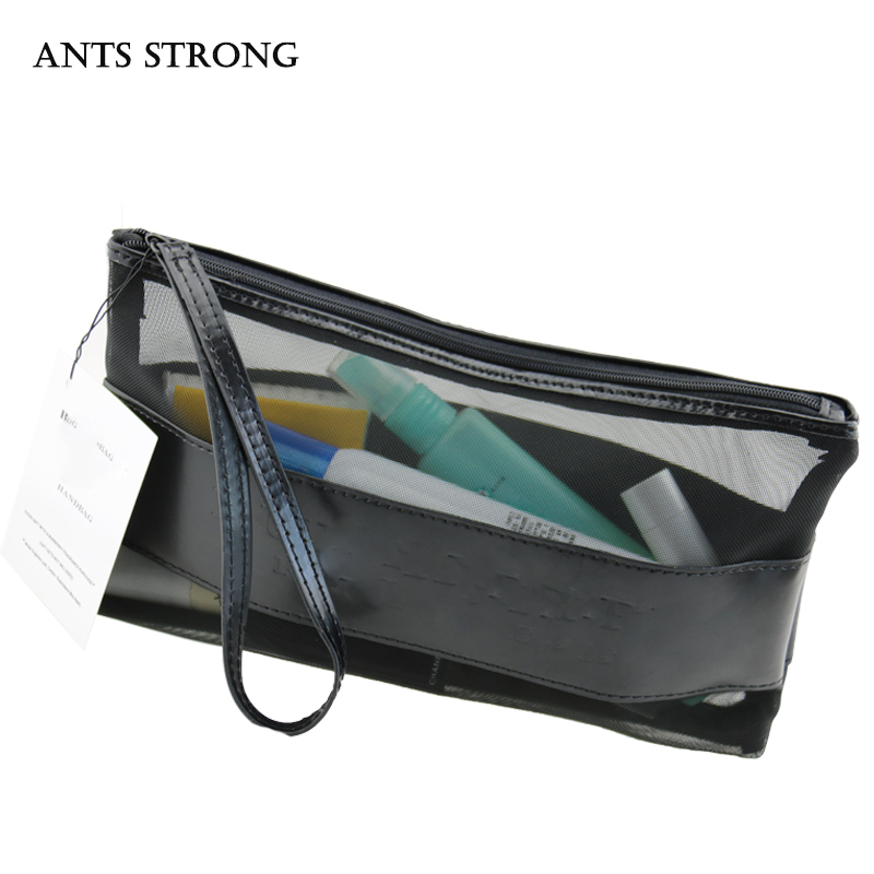 ANTS STRONG Fashion woman cosmetic bag Transparent hand bag Travel goods wash bag Holiday gifts