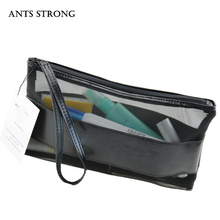 ANTS STRONG Fashion woman cosmetic bag/Transparent hand bag Travel goods wash bag Holiday gifts