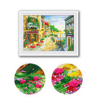 80x60cm very beautiful Seaview Cafe painting Diamond Cross Stitch embroidered diamond drill cube new listing 5D diamond mosaic