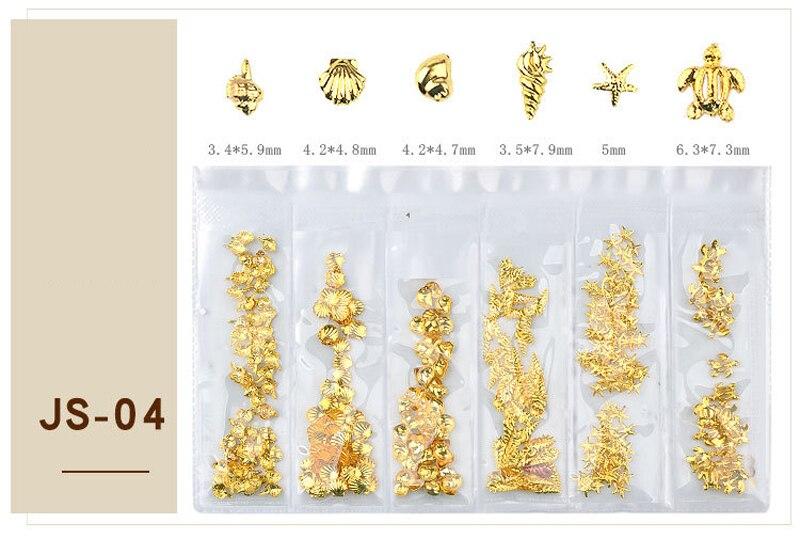 8 pcs 3D Nail Art Decoração Estéreo