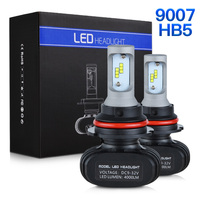 NICECNC S1 9007 HB5 CSP DRL LED Headlight Car Light Bulbs Projector Fog Light Hi Low