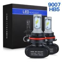 NICECNC S1 9007 HB5 CSP DRL LED Headlight Car Light Bulbs Projector Fog light Hi/Low Beam 25W 6000K 4000LM Auto Headlamp SUV