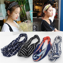 Vigueur Headbands for Women 7 Style Floral Striped Hair Accesorries Hairband Girls Head bands Elastic Cross Turban