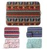 Mosiso Bohemian Style Abrasive Canvas Fabric Laptop Case