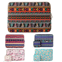 Mosiso Bohemian Style Abrasive Canvas Fabric Laptop Case