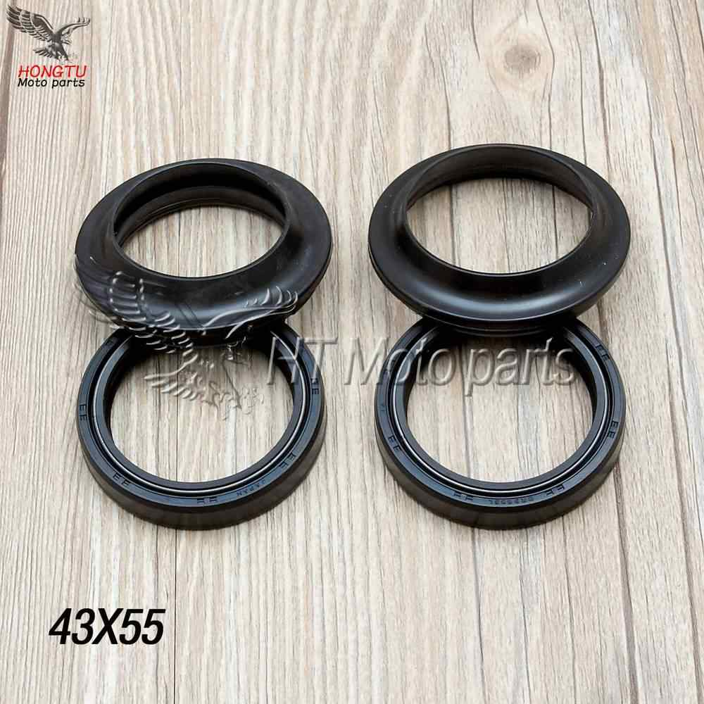 43X55 /9.5 Motorcycle Front Fork Damper oil seal dust cover For GSX1300R XJR1200 XJR1300 MT-01 ZX-6R 636 ZX-10R ZX-14R 43*55